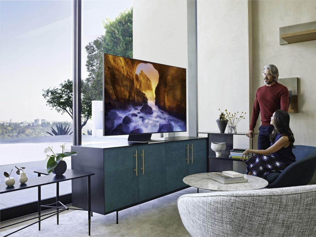 Samsung QN65Q90RAFXZA Flat 65-Inch QLED 4K Q90 Series Ultra HD Smart TV
